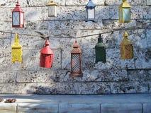 多色的灯笼 免版税库存图片