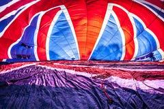 多色的热空气气球 免版税库存照片