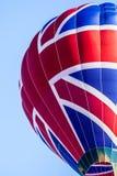 多色的热空气气球 库存照片