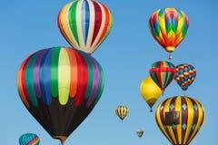 多色的热空气气球 库存图片