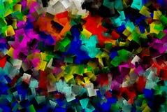 多色的立方体墙纸 库存照片