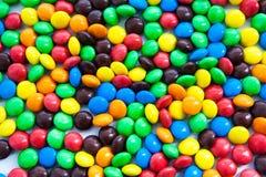 多色的糖果作为背景 免版税库存图片