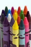 多色的蜡笔 免版税库存照片