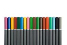 多色的铅笔行  库存照片