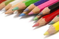 多色的铅笔 免版税库存照片