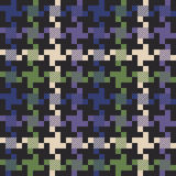 多色的houndstooth织品 库存图片
