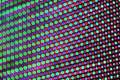 多色的LED光样式 免版税库存图片