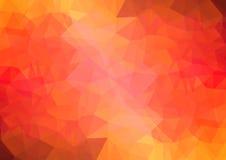 多色红色几何三角低多样式梯度例证图表背景 库存图片