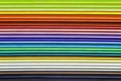 多色纸的特写镜头 免版税库存图片