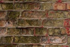 多色老和难看的东西砖墙 背景几何老装饰品纸张葡萄酒 古色古香的纹理在小镇 免版税库存图片