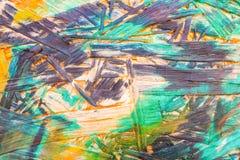 多色被绘的木粗纸板纹理背景 免版税图库摄影