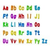 多色3d字体,可利用所有信件 也corel凹道例证向量 图库摄影