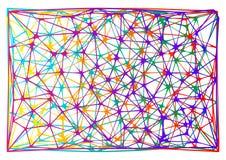 多节的神经元鞋带传染媒介五颜六色的背景 库存图片