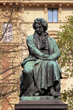 贝多芬雕象,维也纳,奥地利, 图库摄影