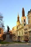 裴多菲雕象,布达佩斯 库存图片