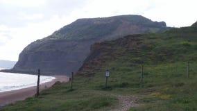 多西特海岸,海视图在晴天 免版税库存照片