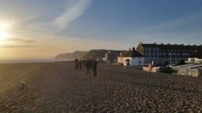 多西特海岸,海视图在晴天 免版税图库摄影
