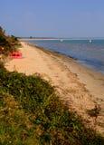 多西特海滩Studland英国英国位于在Swanage之间和Poole和伯恩茅斯 库存图片