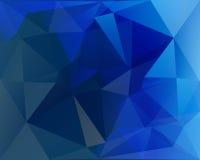多角形三角传染媒介背景、蓝色、白色和绿松石 免版税库存图片