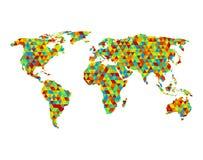 多角形世界地图 免版税库存图片