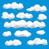 多角形云彩汇集 库存图片