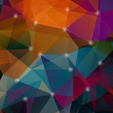 多角形五颜六色的马赛克背景 免版税库存图片