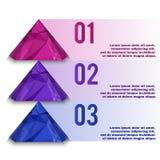 多角形信息图表 免版税库存照片