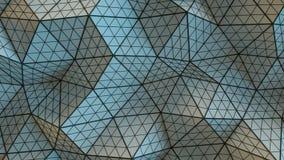 多角形几何灰色表面3D回报 库存例证