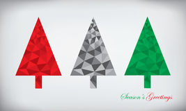 多角形圣诞树集合 图库摄影
