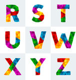 多角形字体 免版税库存图片