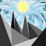 多角形山风景 皇族释放例证