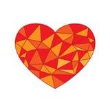 多角形心脏传染媒介 免版税库存图片