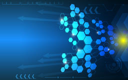 多角形抽象箭头运动背景 免版税库存照片