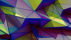 多角形抽象表面 Semless圈3D回报 股票录像