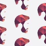 多角形无缝的面孔样式 库存图片