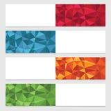 多角形横幅 免版税库存图片