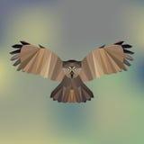 多角形猫头鹰 向量例证