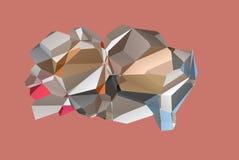 多角形脑子摘要 库存照片