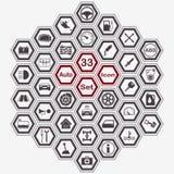 多角形自动象集合 向量例证