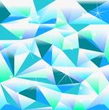 多角形蓝色背景 库存照片