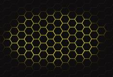 多角形蜂蜜梳子 向量例证