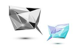 多角形讲话形状 库存照片
