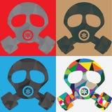 多角形防毒面具 免版税库存照片