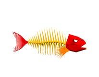 多角形鱼骨骼 背景查出的白色 传染媒介不适 免版税库存图片