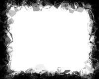 多角形黑照片为风景照片10x8渐近 向量例证