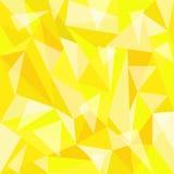 多角形黄色背景 图库摄影