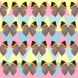 多角形蝴蝶图案背景 库存例证
