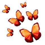 多角形蝴蝶 库存图片