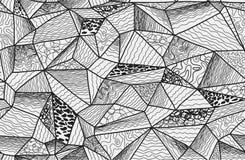 多角形zentangle无缝的样式 免版税库存图片