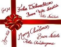 多语种的christmascard 库存图片